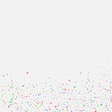 Abstract background with many falling tiny confetti pieces. Royalty Free Stock Image