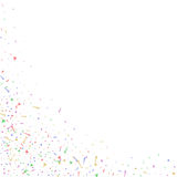 Abstract background with many falling tiny confetti pieces. Royalty Free Stock Photos