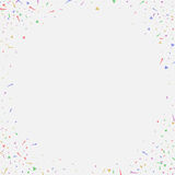 Abstract background with many falling tiny confetti pieces. Vector background Royalty Free Stock Photography