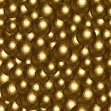 Abstract background of many golden balls Stock Photos