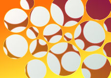 Abstract background with many holes. Clip-art stock illustration