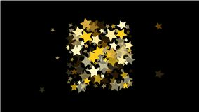 Abstract Background with Many Random Falling Golden Stars Confetti . Abstract Background with Many Random Falling Golden Stars Confetti on Background Royalty Free Stock Images