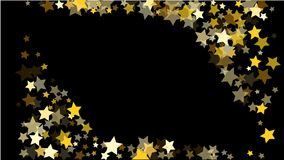 Abstract Background with Many Random Falling Golden Stars Confetti . Abstract Background with Many Random Falling Golden Stars Confetti on Background royalty free illustration