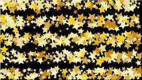 Abstract Background with Many Random Falling Golden Stars Confetti . Abstract Background with Many Random Falling Golden Stars Confetti on Background Stock Photo