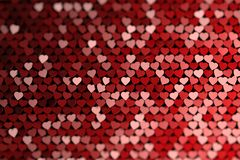 Abstract background with many randomly colored hearts. Backdrop for valentines or romantic events. Many randomly arranged hearts. 3d illustration royalty free illustration
