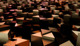 Abstract background of many sharp triangles. Royalty Free Stock Image