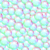 Abstract background of many soap bubbles Royalty Free Stock Photo