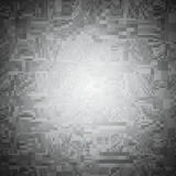 Abstract background of many squares. Shades of gray. Spot light in the Center. Selecting an area light Royalty Free Stock Image