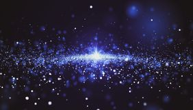 Abstract background, many stars of space vector illustration