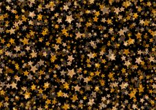 Abstract background of many stars. Vector Royalty Free Stock Photo