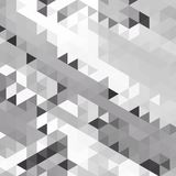Abstract background of many triangles. Movement of geometric shapes. Royalty Free Stock Image