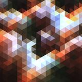 Abstract background of many triangles. Movement of geometric shapes. Color transitions Stock Images