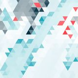 Abstract background of many triangles. Movement of geometric shapes. Color transitions Stock Photography