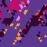 Abstract background of many triangles. Movement of geometric shapes. Color transitions Stock Photo