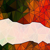 Abstract background from many triangles. Vibrant background. Stock Photography