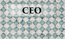 Abstract background. With marble pattern and glass panel with the word ceo Royalty Free Stock Images
