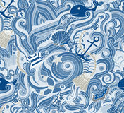 Abstract background is on the marine theme. Vector Royalty Free Stock Photos