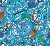 Abstract background is on the marine theme. Vector royalty free illustration