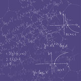 Abstract Background with mathematical formulas Stock Image