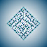 Abstract background - maze. Abstract background - the blue maze Stock Photos