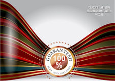 Abstract background with medal Stock Image