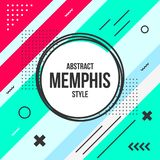 Abstract background with Memphis Style. Simple royalty free illustration