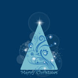 Abstract background of Merry Christmas card Royalty Free Stock Photos