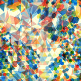 Abstract background with messy polygon shapes. Abstract background with messy colorful polygon shapes Stock Images