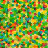 Abstract background with colorful hex polygons. Abstract background with messy stained glass hex polygons Royalty Free Stock Photo