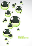 Abstract background with metal balls. Abstract background of a set of metal balls stock illustration