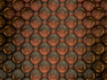Abstract background of metal balls. 3D. Rendering Stock Images