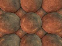 Abstract background of metal balls. 3D. Rendering Royalty Free Stock Photos