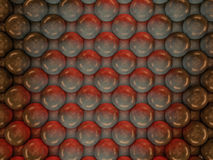 Abstract background of metal balls. 3D. Rendering Royalty Free Stock Photo