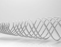 Abstract background. Metal helix stock illustration