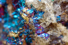 Abstract background from a metal mineral. Royalty Free Stock Photos
