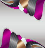 Abstract background with metal ornament. For creative design royalty free illustration