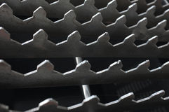 Abstract background with metal teeth pattern Stock Images