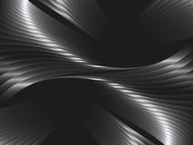 Abstract  background with metal waves. Abstract background with metal waves. Vector illustration Stock Image
