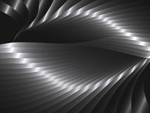 Abstract  background with metal waves. Abstract background with metal waves. Vector illustration Stock Photos