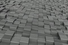 Abstract background. Metall cubes zink Royalty Free Stock Images