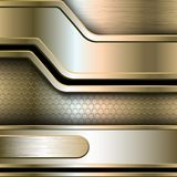 Abstract background, metallic banners Stock Images