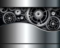 Abstract background gears. Abstract background metallic with cogs and gears, vector Royalty Free Illustration