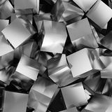 Abstract background. From metallic cubes. 3D illustration Royalty Free Stock Photo