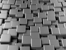 Abstract background metallic cubes. Abstract background made of metallic 3d cubes Stock Photos