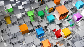 Abstract background from metallic cubes Stock Image