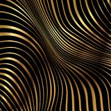 Gold pattern striped background. Abstract background with a metallic gold warped stripe pattern Royalty Free Stock Photography