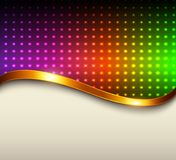 Abstract background. Metallic with rainbow dots pattern, vector illustration Stock Photography