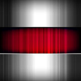 Abstract background, metallic and red. Stock Photos