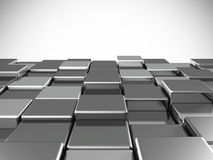 Abstract background from metallic shiny cubes stock illustration