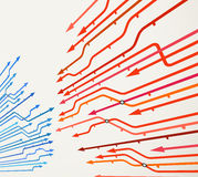 Abstract background of metro lines. With arrows vector illustration